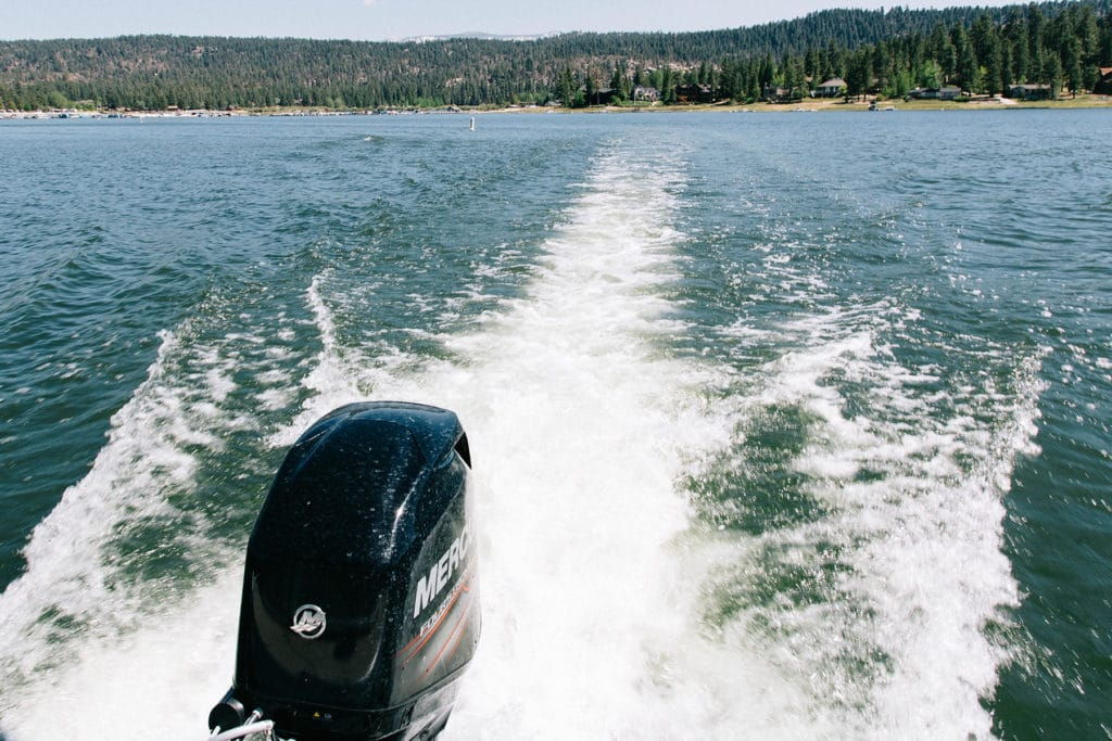 Big Bear Lake during a visit in the summer