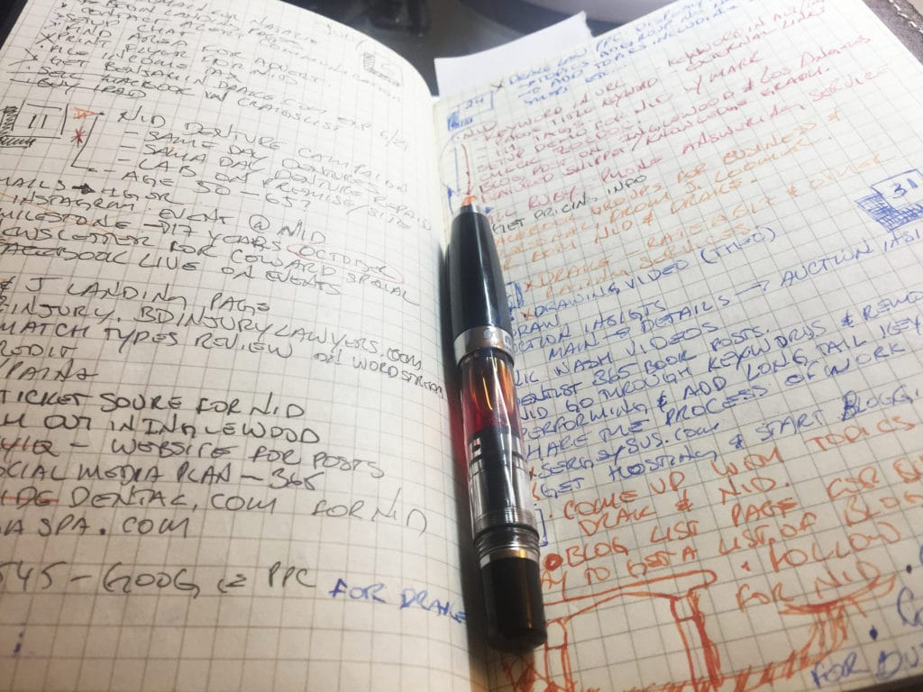 journal and task list