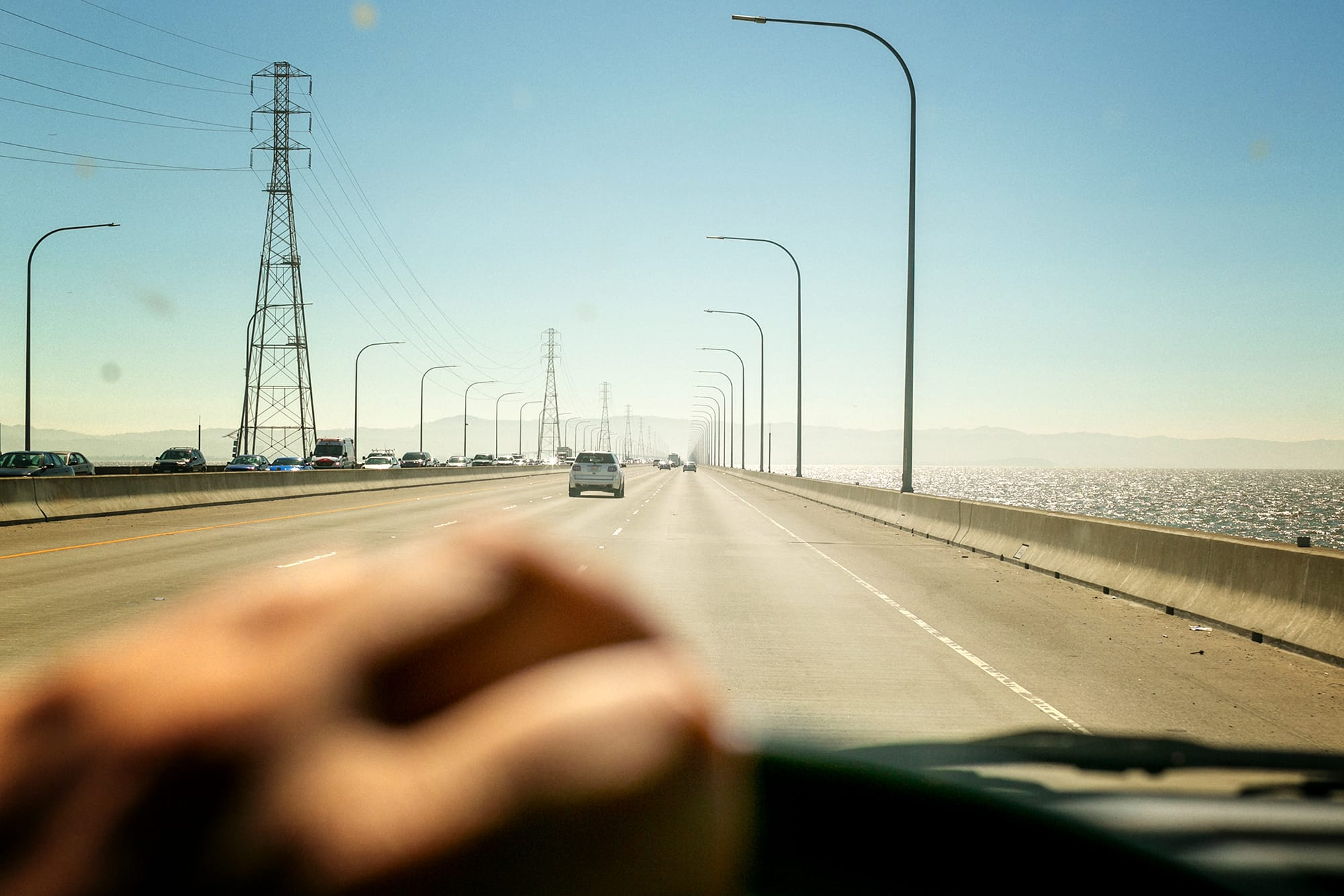 san mateo bridge near san francisco, oakland