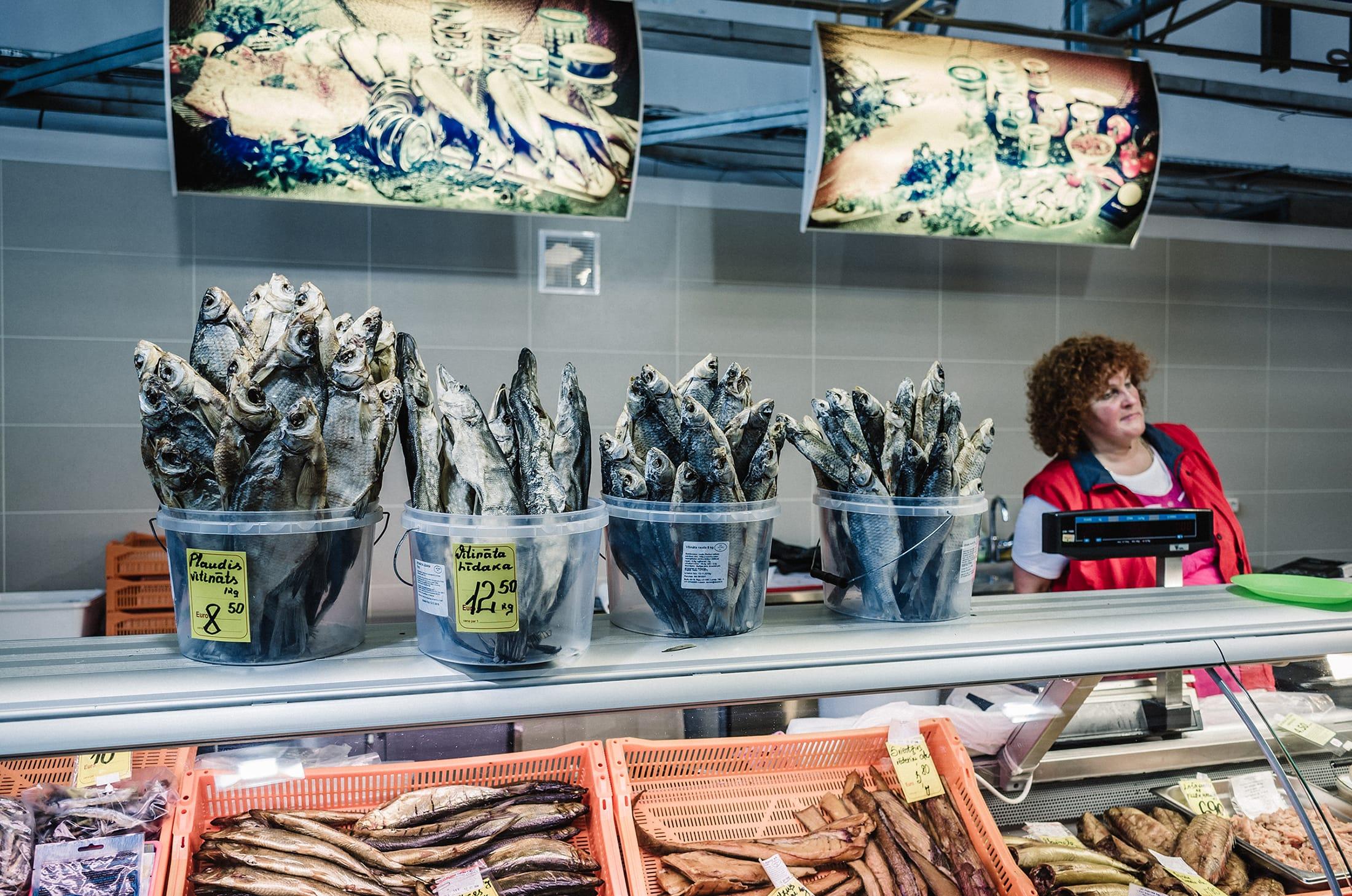 riga, latvia fish market