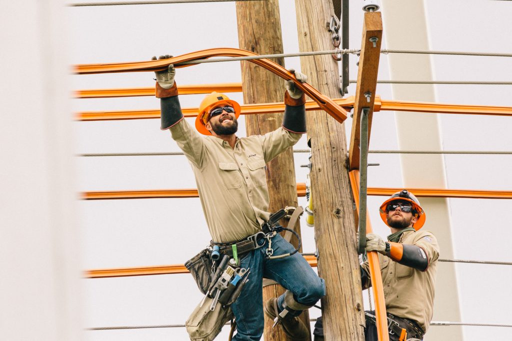 Replacing High Voltage Electrical Lines & Poles